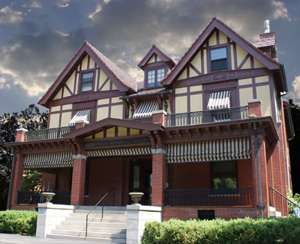 Lackawanna Historical Society is located in the historic home of George and Helen Catlin.