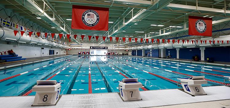 The pool used my Olympic hopefuls