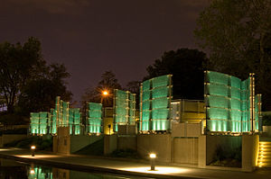 Medal of Honor Memorial at Night