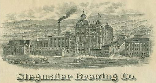 Stegmaier Beer has been brewed since 1857. Although the brand is no longer famous world-wide, it is made by the Lion Brewery in Wilkes-Barre.
