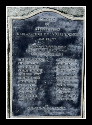 Mecklenburg Declaration of Independence Site Plaques