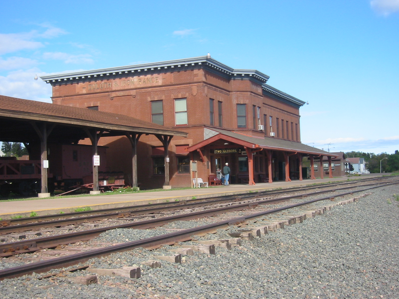 The Lake County Historical Society Depot Museum, formerly the Duluth and Iron Range Railroad Company Depot.