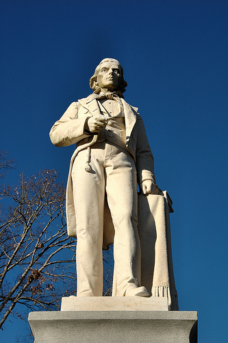 Alexander Stephens statue at Liberty Hall