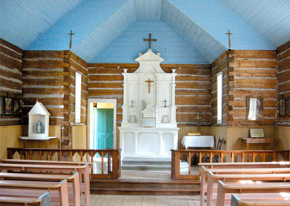 A view inside the church