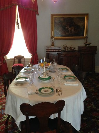 The dining room in the Woodrow Wilson Boyhood Home
