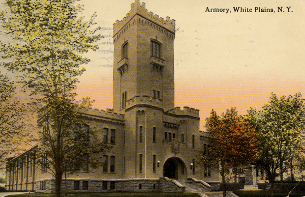 Postcard of White Plains Armory from website