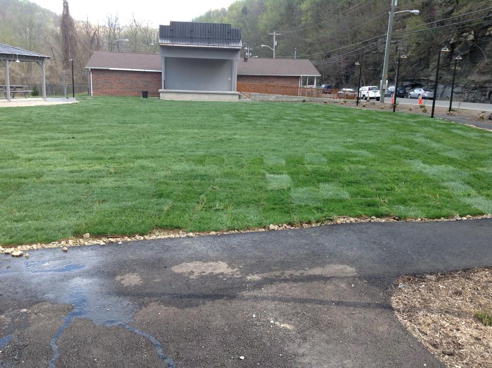 Green space sod installation