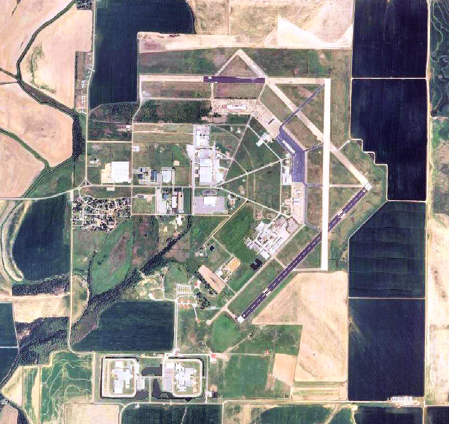 An aerial view of the Newport Air Field.