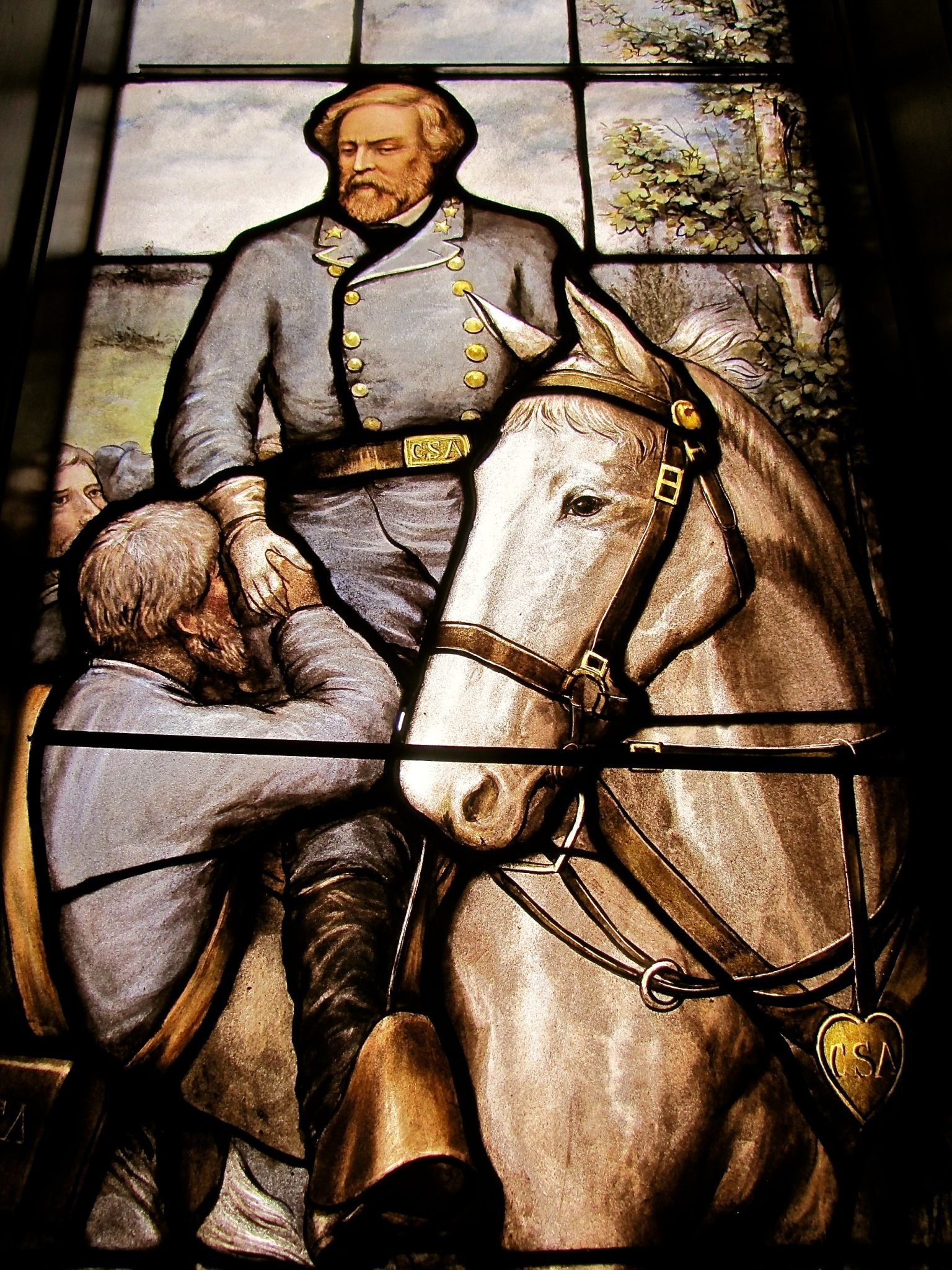 Image of Robert E. Lee in Rhodes Hall (Richard Utz, Public Medievalist)