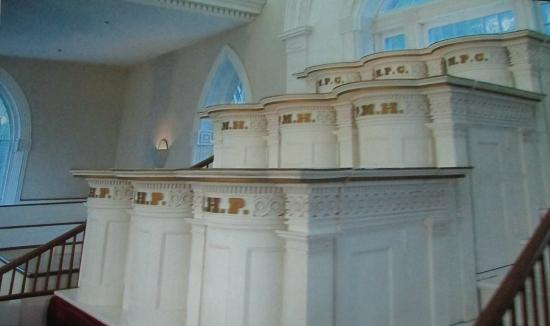 Pulpits in the temple. Here is where Jesus Christ, Moses, Elijah, and Elias are said to have appeared to Joseph Smith and Oliver Cowdry.