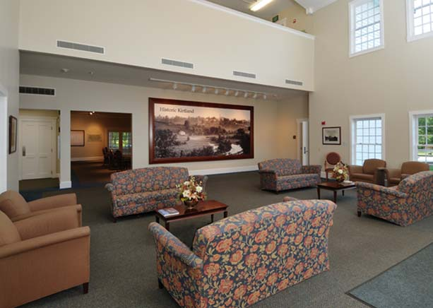 Lobby of LDS Visitors Center in Kirtland.