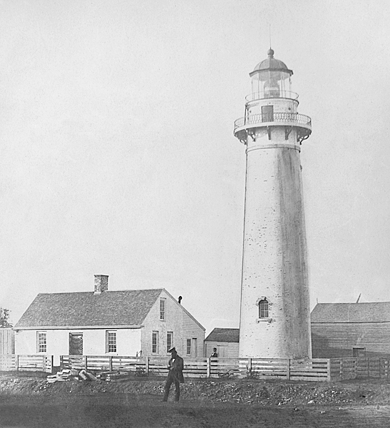 Fairport's first lighthouse in 1859