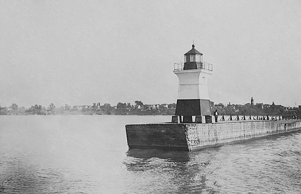 East pier of Fairport in 1874