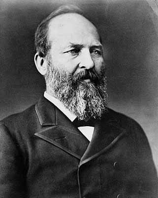 James A. Garfield as President, 1881.