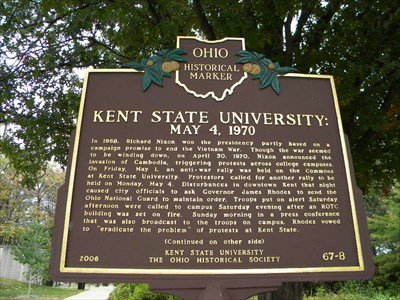 This marker was erected in 2006 by the University and the Ohio Historical Society.
