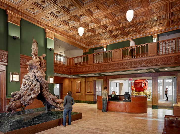 Interior of the Briscoe Western Art Museum (Photo courtesy of the Briscoe Western Art Museum)