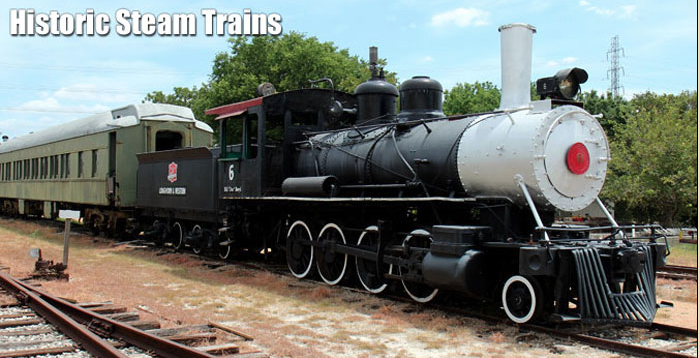 Historic Steam Railroad (Photo courtesy of Texas Transportation Museum)