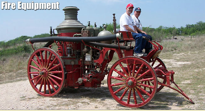 One of the Museum's antique fire engines (Photo courtesy of Texas Transportation Museum)