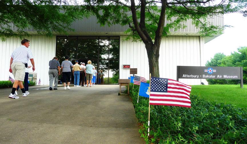 Entrance to the Atterbury-Bakalar Air Museum.