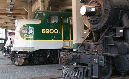 North Carolina Transportation Museum Interior Train Exhibit