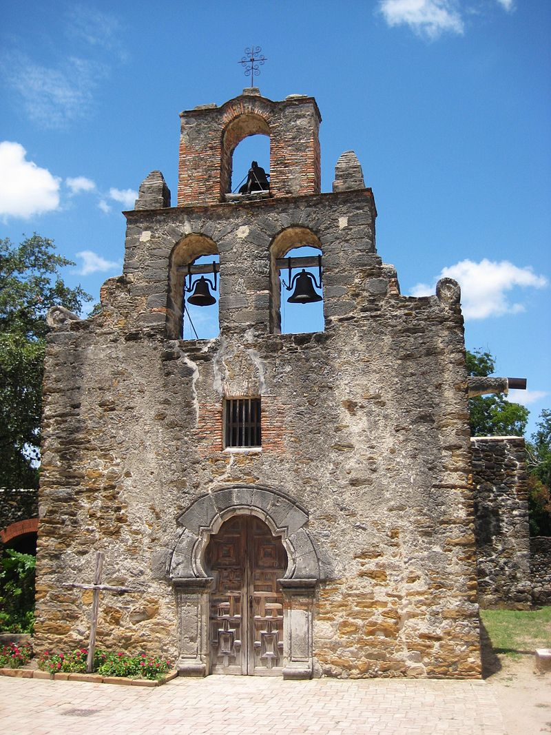 The remains of the Mission San Francisco de la Espada, which was established in 1690 as the San Francisco de los Tejas Mission. It received its current name in 1731.