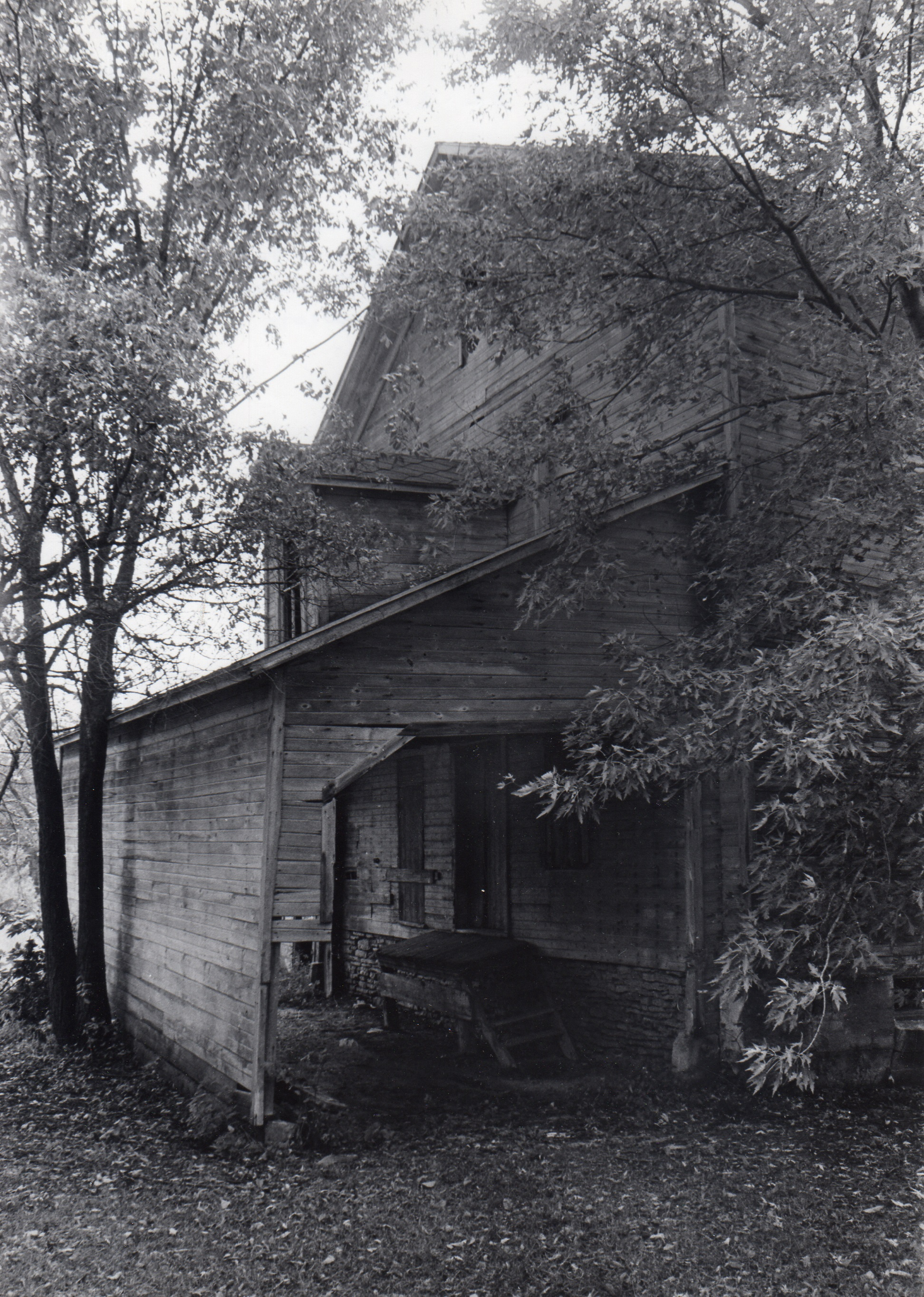 Historical photograph of the Beckman Mill.