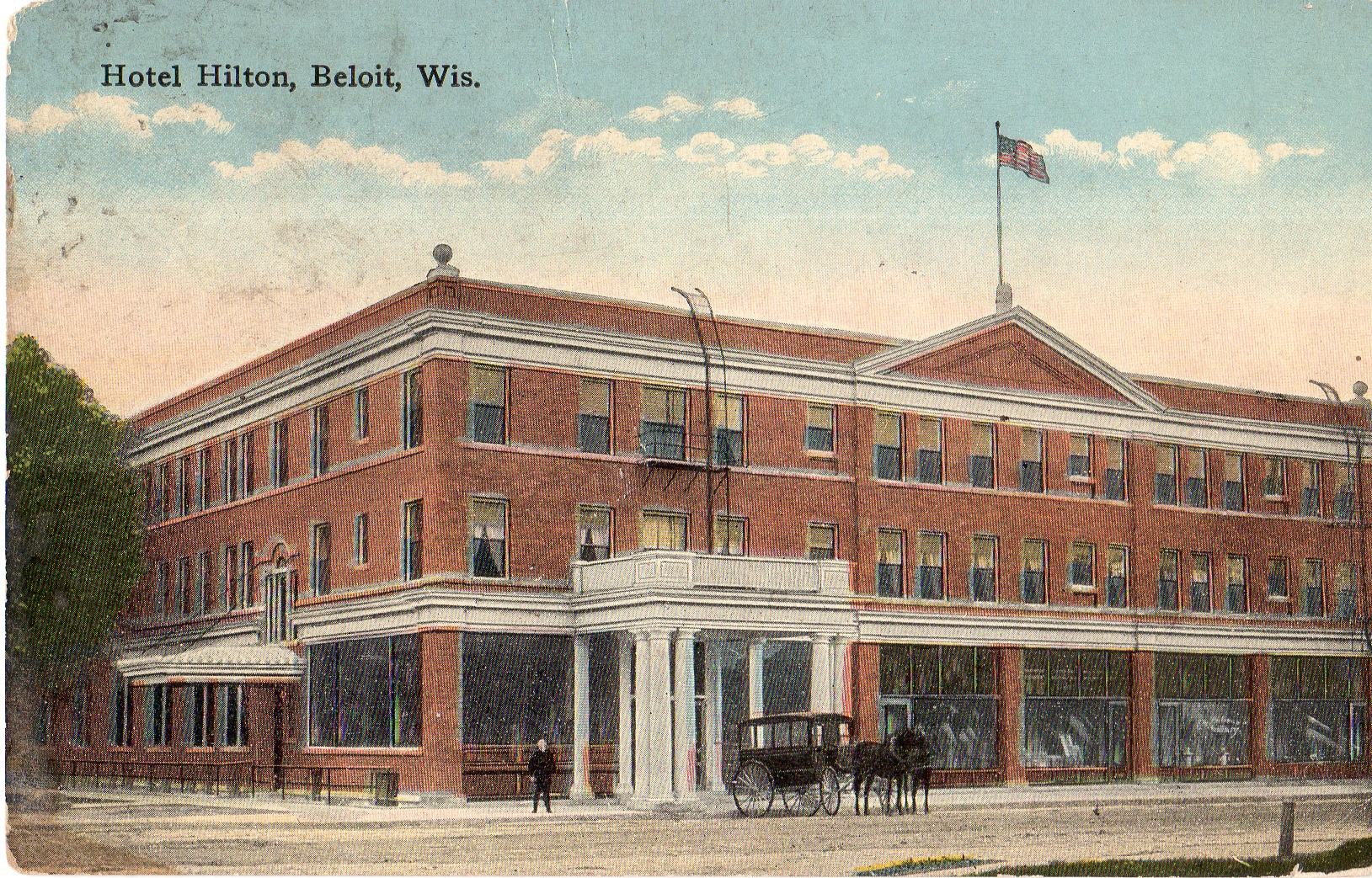 Postcard of Hilton House Hotel