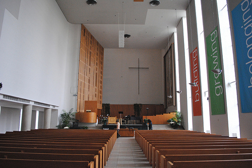 A view of the sanctuary