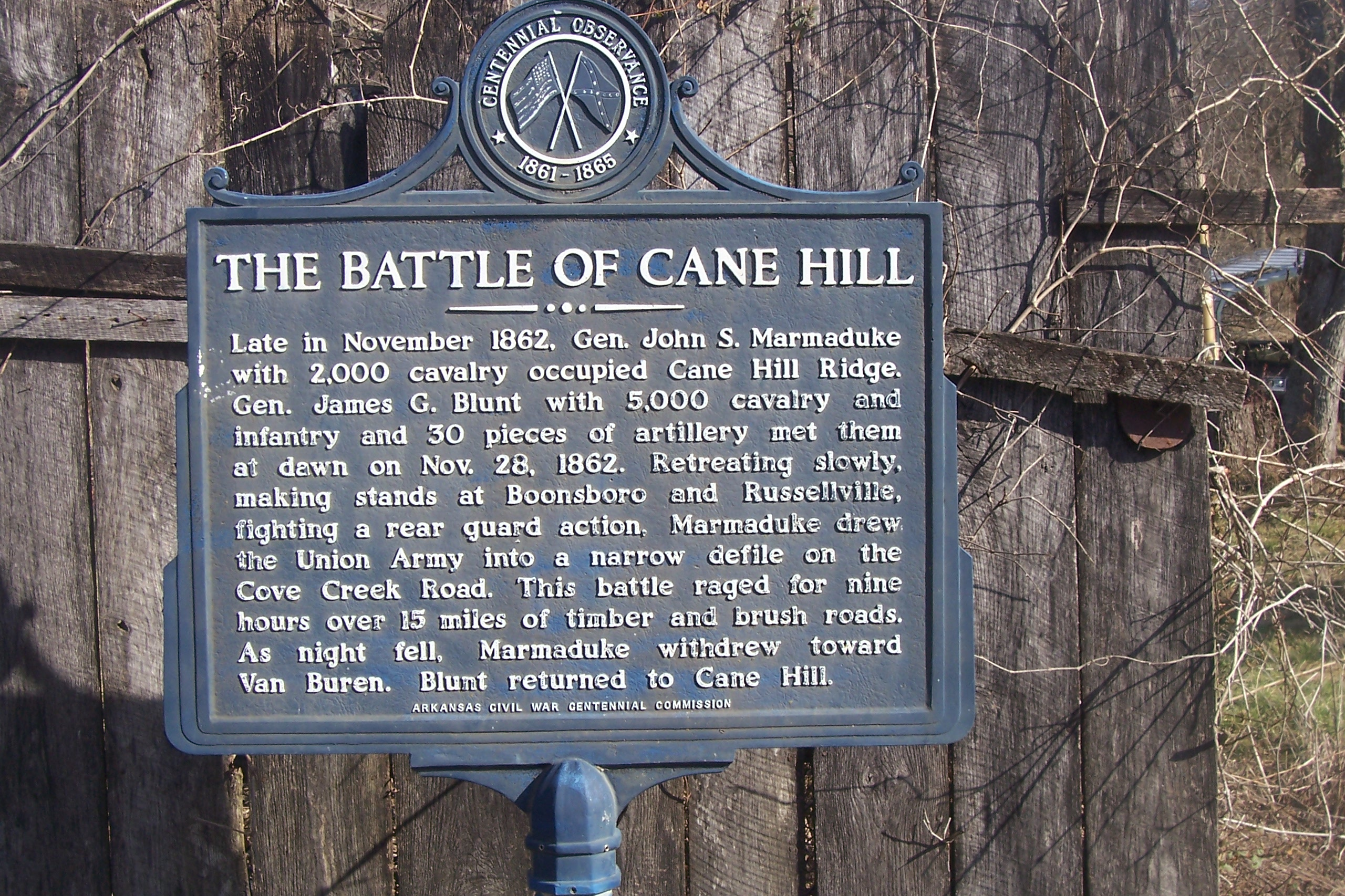 The Battle of Cane Hill took place on November 28, 1862. Although the Confederate army obtained a tactical victory it was the Union who won the battle.