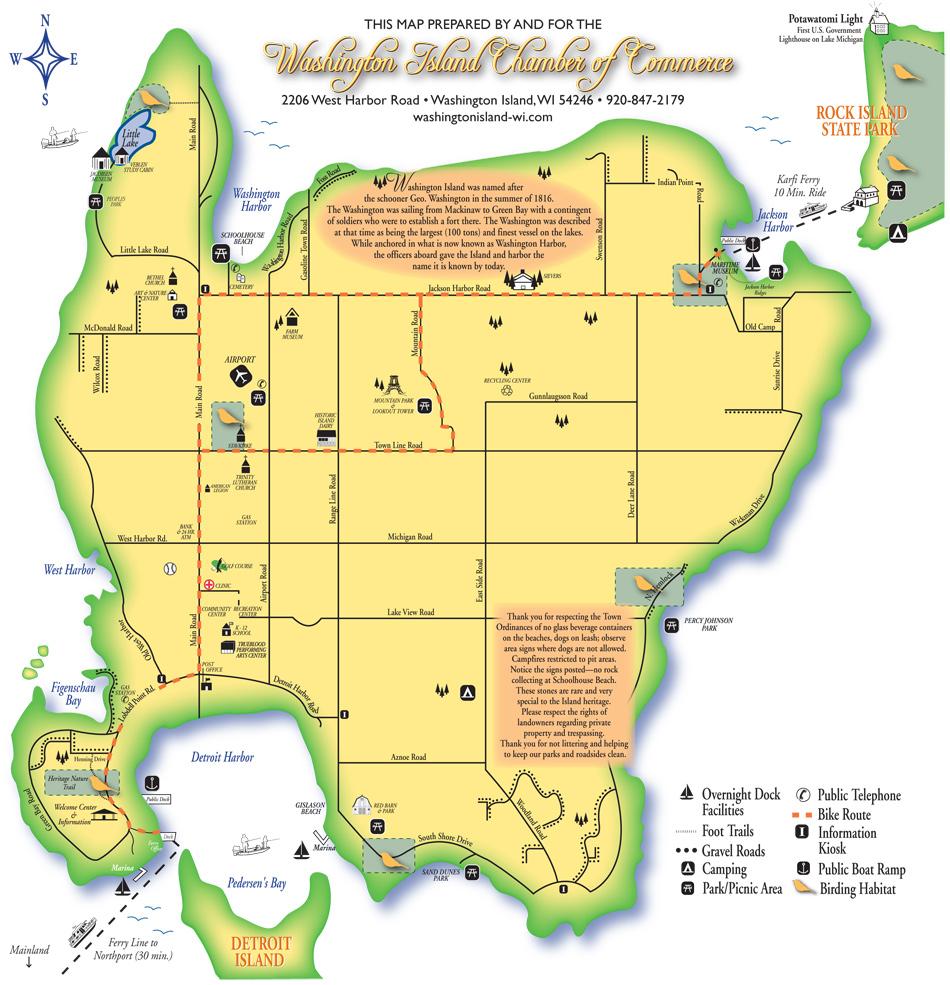 Washington Island Chamber of Commerce map