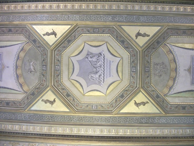 A bottom-up view of Ketterer's frescos.