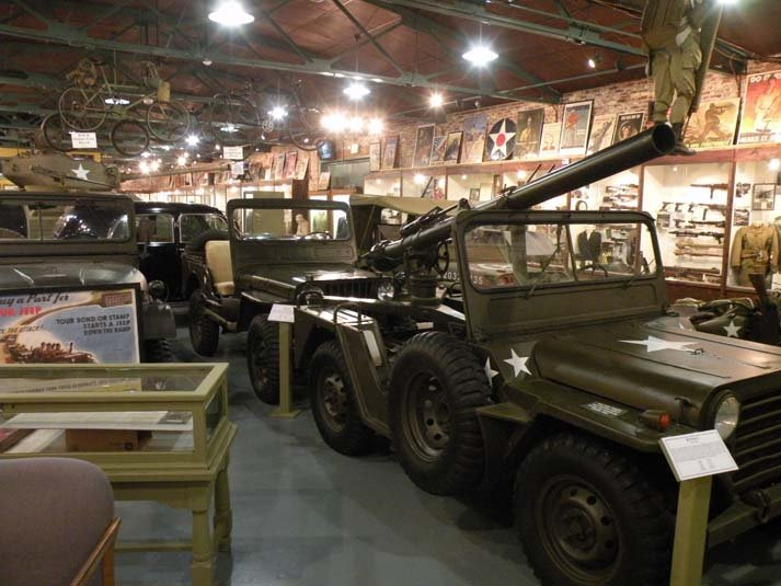 Jeep collection at the Indiana Military Museum.