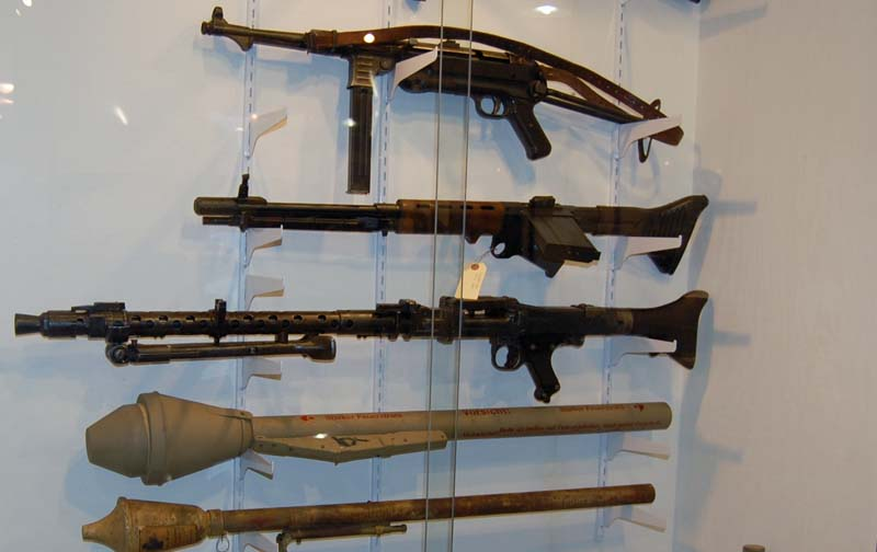 Some of the firearms on display