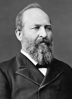 President James A. Garfield in 1881.
