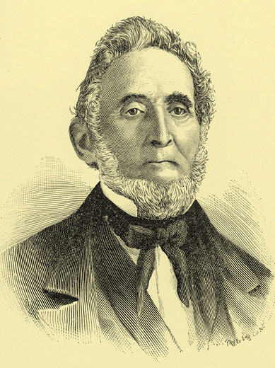 Undated rendering of Sidney Rigdon, prominent Shaker of North Union and convert to LDS church.