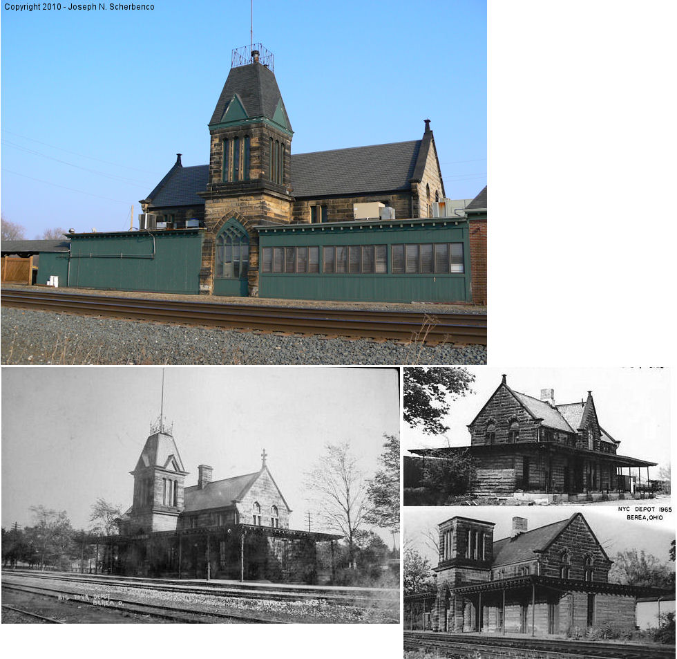 Various photos of Depot. One is current, one is undated and two are from 1965
