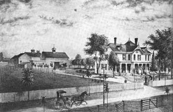 1880 rendering of Lawnfield.