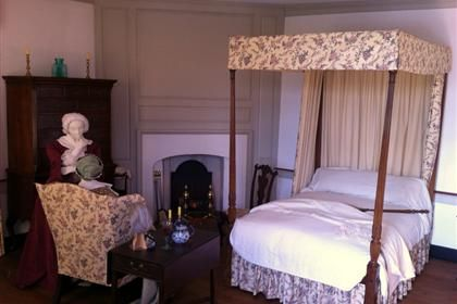 One the bedrooms in the Manor