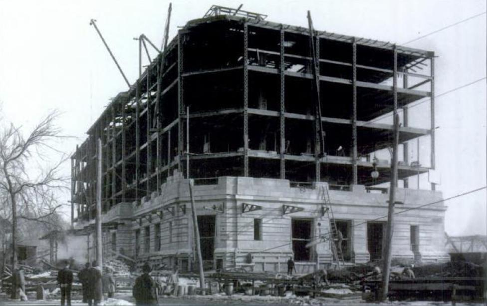 Lackawanna Station under construction in 1907