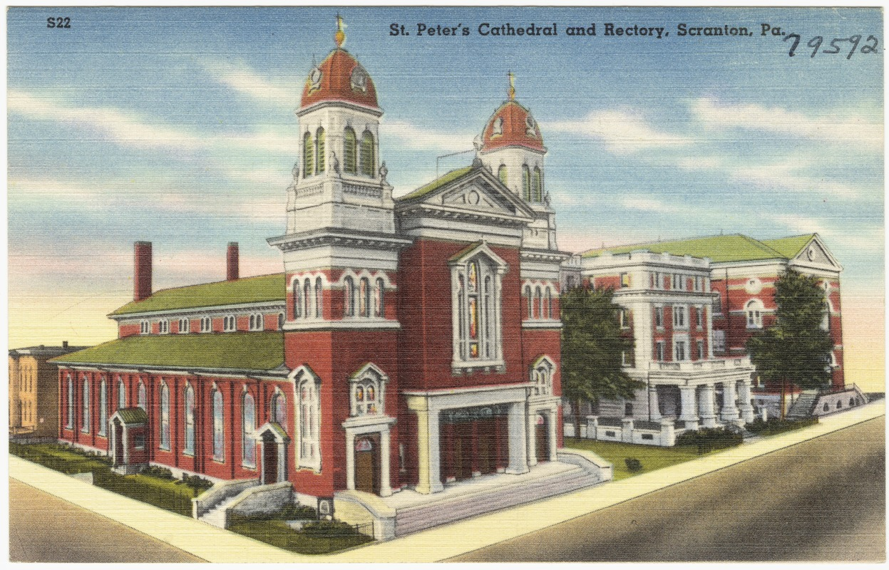 1930-1945 colored postcard of St. Peter's. Courtesy of the Boston Public Library,Tichnor Brothers Postcard Collection