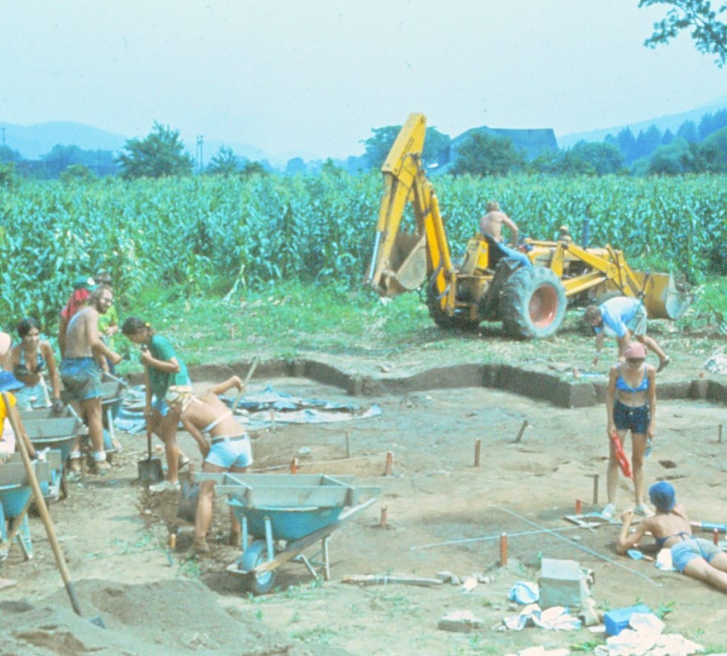Excavation of site 1976-1978