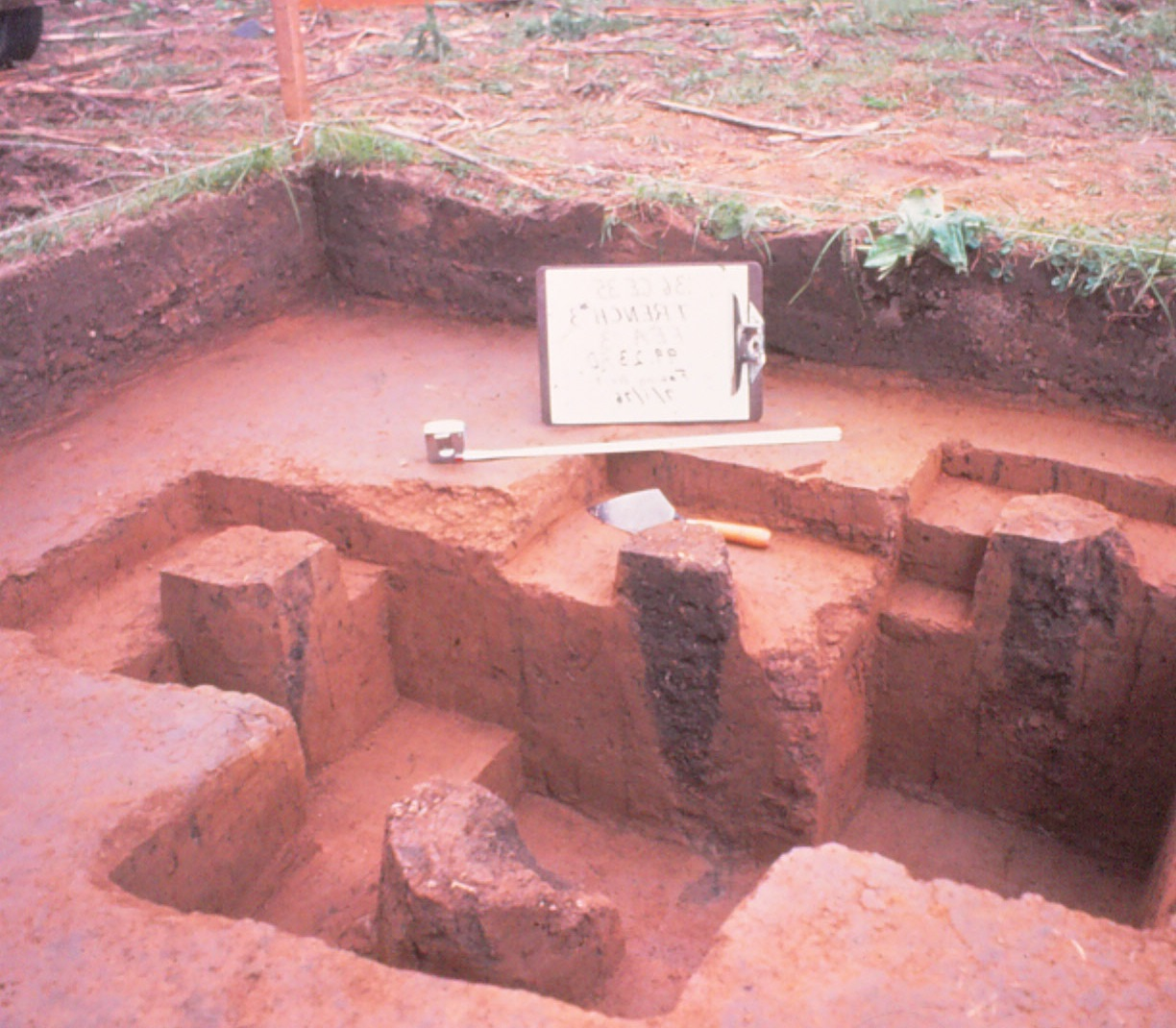 another photo of the excavation work