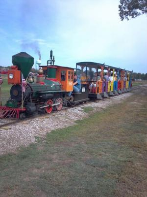 The miniature steam train