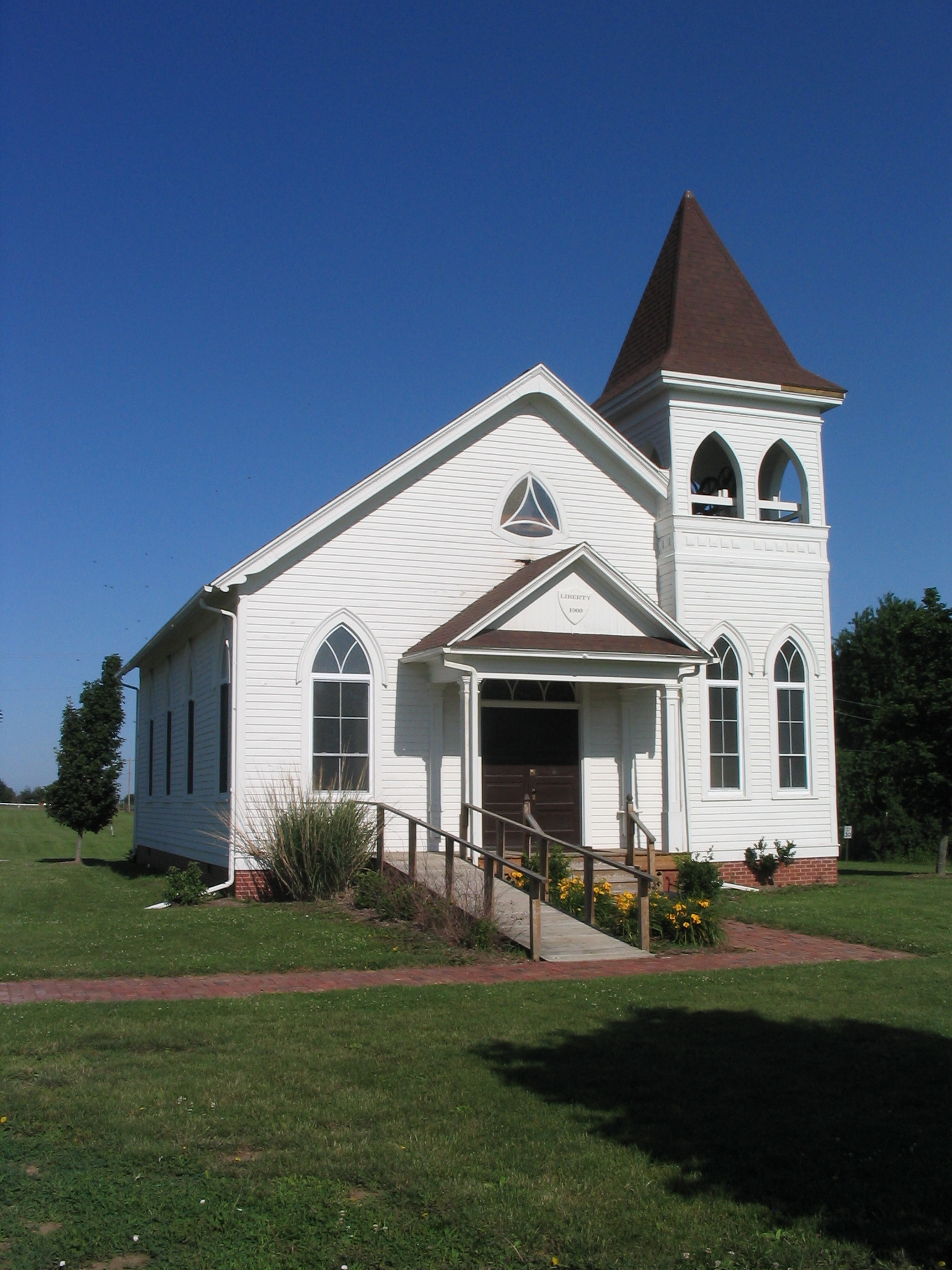 The old church on the grounds