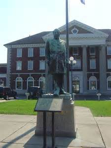 Statue of Collis P. Huntinton in front of the old C&O Railway Depot- now CSX.