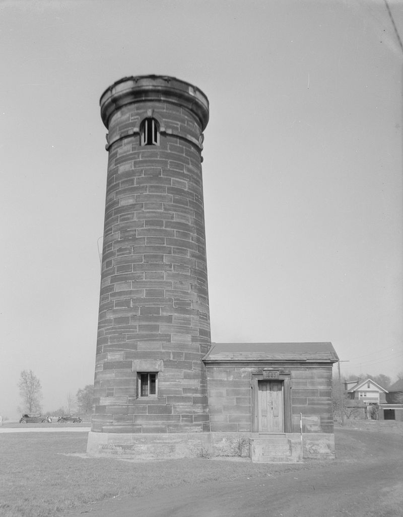 Historic American Buildings Survey 1935 photo of what remained of Lighthouse