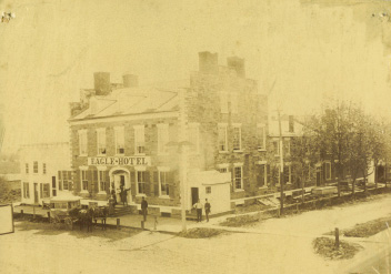 mid-late 1880s photo of the Eagle Hotel