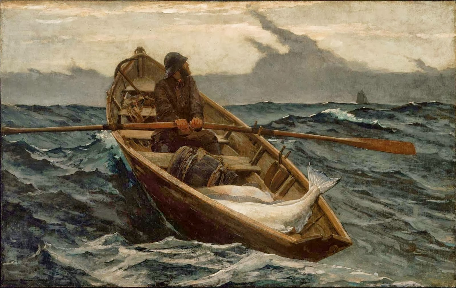 """One of Homer's most famous works, """"The Fog Warning"""" was painted at the Winslow Homer Studio."""