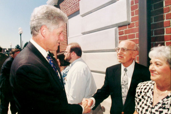 Jim Tweel with President Bill Clinton