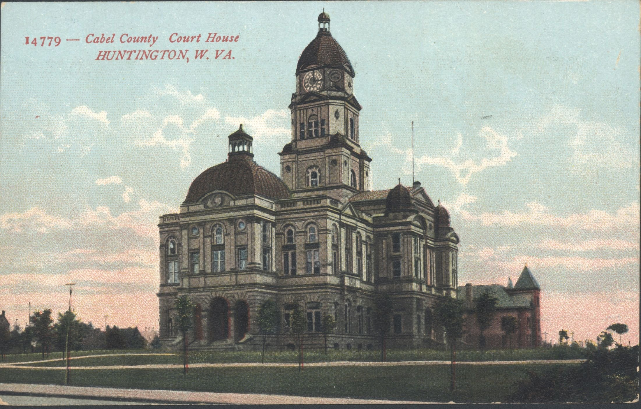Color postcard from the early 1900s. Image courtesy of Marshall University Special Collections.